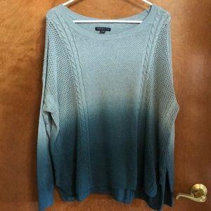 Blue long sleeve sweater